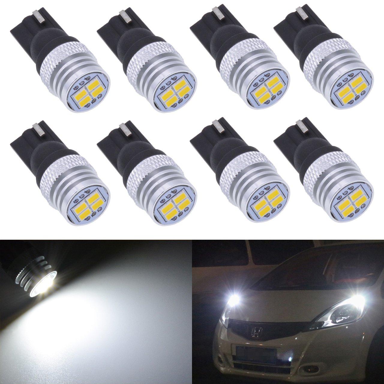 a LED 194 da DC 12/V KaTur per interni con 4 SMD 168 W5W 750 Lm targa 2825 T10 cruscotto ricambio di lampadine per auto a luce bianca 3020 bagagliaio