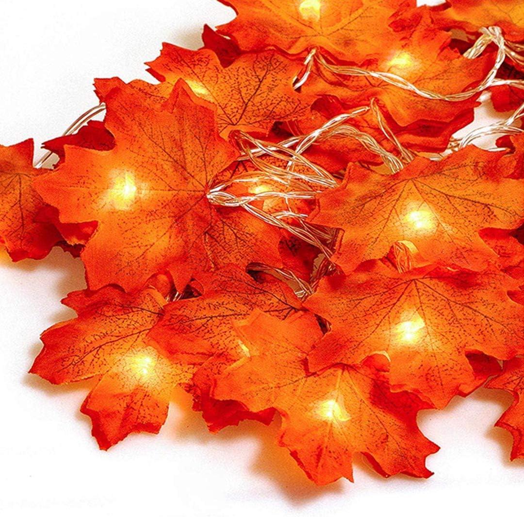 guirnalda luces 20 led boda flores artificiales hojas otoño decoracion exterior led luz jardin adornos halloween calabazas decorativas habitacion arbol de navidad interior cadena de luces fiesta