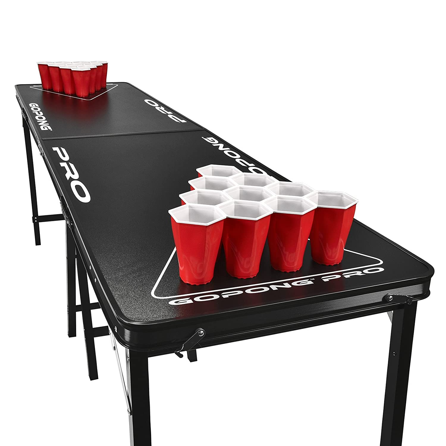 Amazon.com : GoPong PRO 8 Foot Premium Beer Pong Table   Heavy Duty (Black,  36 Inch Tall) : Pong Games : Sports U0026 Outdoors