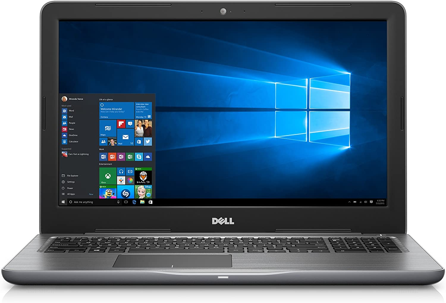 "Dell Inspiron High Performance 15.6"" FHD Laptop AMD A12 Processor, 8GB RAM,1 TB HDD Radeon R7 Graphics Windows 10 Pro"