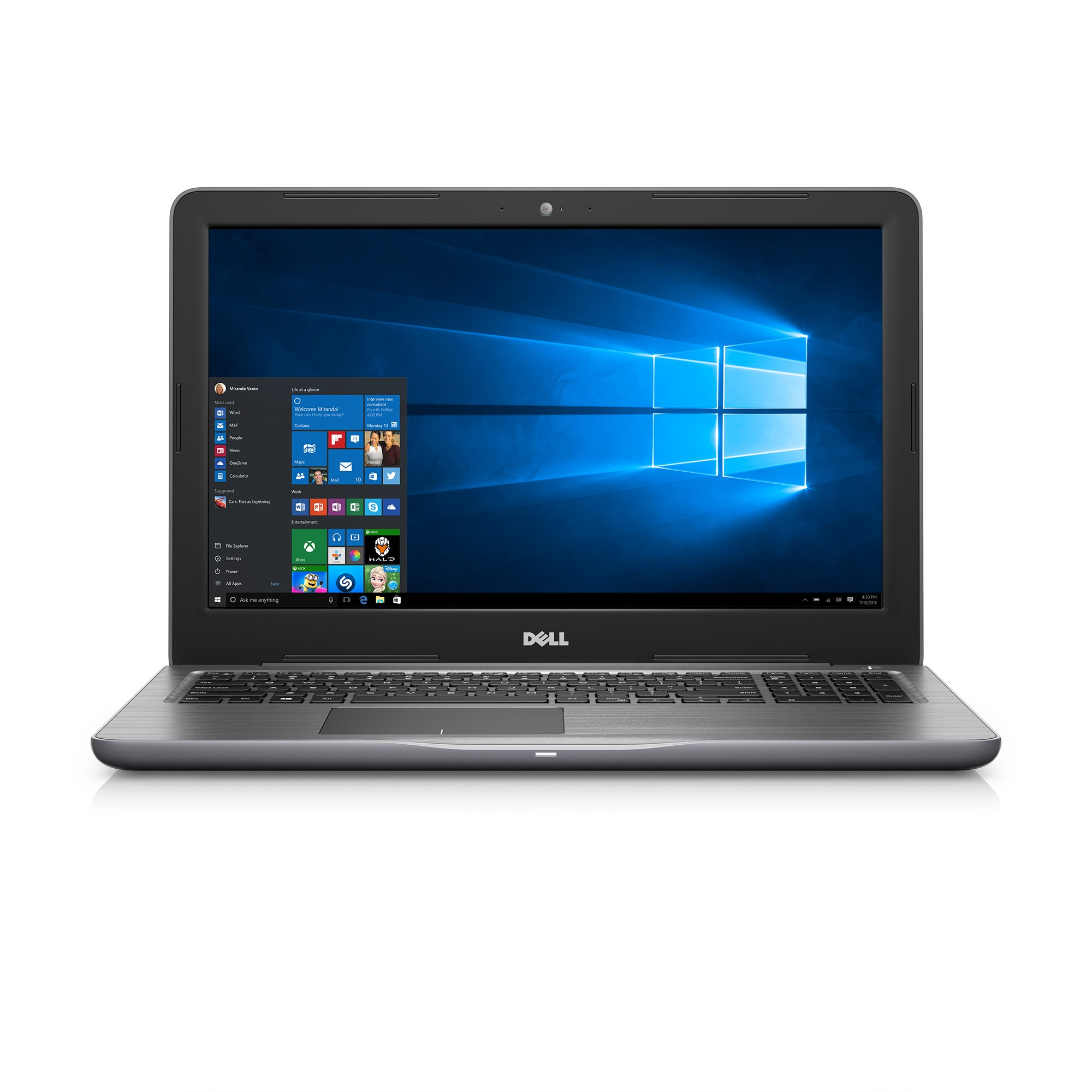 Dell Inspiron 15.6'' FHD Laptop (7th Generation Intel Core i7, 16GB RAM, 1 TB HDD, AMD Radeon R7 M445 Graphics) (i5567-7292GRY)