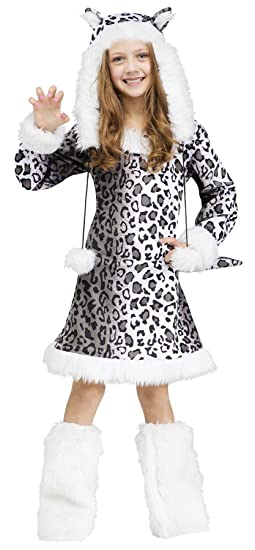 Girls Snow Leopard Kids Child Fancy Dress Party Halloween Costume eb5e146fb