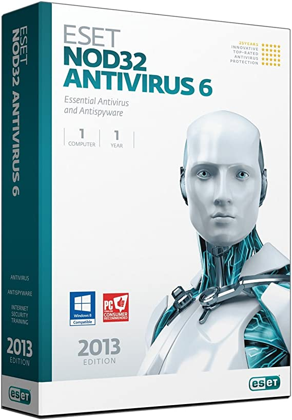 Eset NOD32 Antivirus 6 - Seguridad y antivirus (Caja, Full, 1 usuario(s), 320 MB, 128 MB, 400 MHz): Amazon.es: Software
