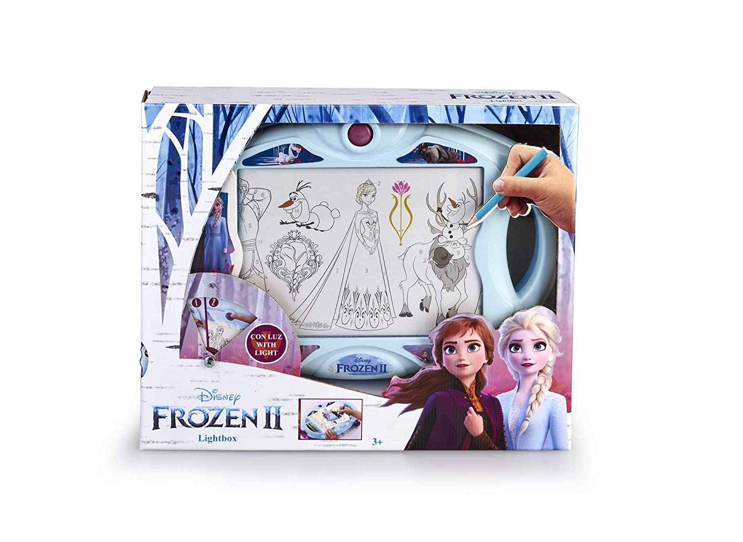 Magic Artist - Light Box Frozen 2, Pizarra para Niños y Niñas a ...