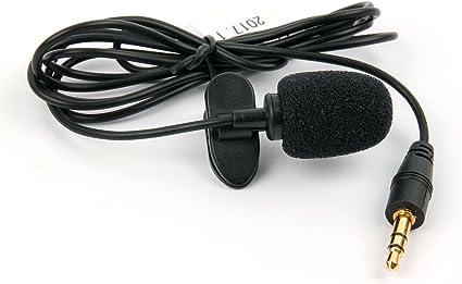 DURAGADGET Micrófono de Solapa/Clip Lavalier, omnidireccional ...