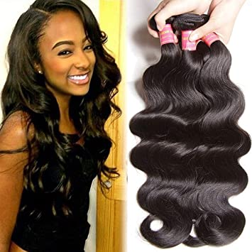 Hair Extensions & Wigs Luxurious Brazilian Body Wave Hair Extensions 100% Virgin Human Hair Weave Bundles Natural Color Free Shipping Buy 3 Piece