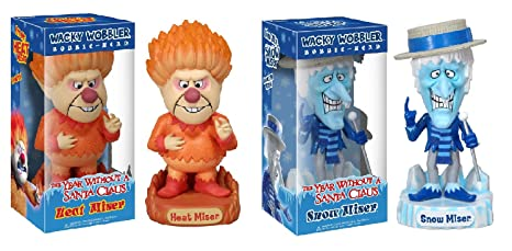 2f8b4ff46622d Funko Snow Miser   Heat Miser Bobblehead Wacky Wobbler Set Year ...