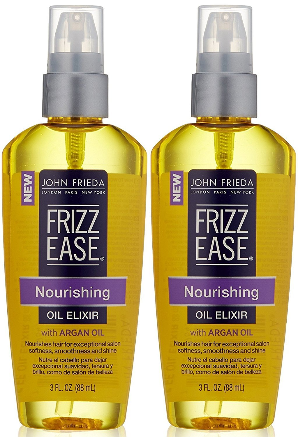 John Frieda Frizz-Ease Nourishing Oil Elixir 3 Ounce (88ml) (2 Pack)