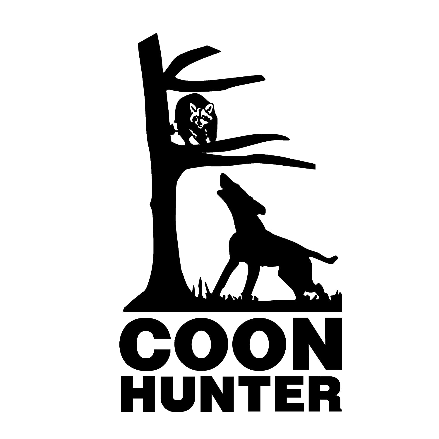 Amazon com coon hunter deal coon hunter sticker coon hunter shirts 1216 by waterfowldecals small black automotive