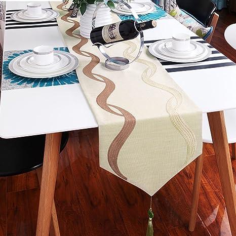 BSNOWF-Table Runner Tabla Runner Algodón Tela De Cáñamo Arte Raya Tea Table Flag Toalla