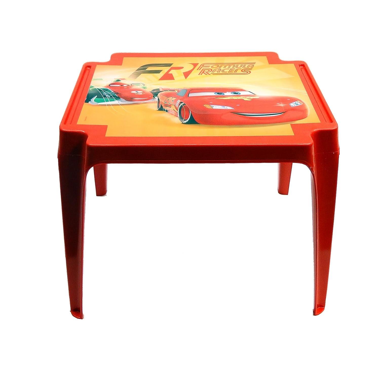 PROGARDEN 945Cars Table pour Enfant Motif Cars, Rouge, 50x 55x 45cm 8009271009455