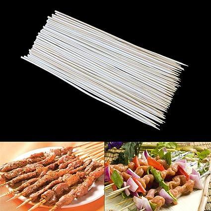 1 Pack Bamboo Skewers Grill Shish Kabob Wood Sticks Barbecue BBQ Tools