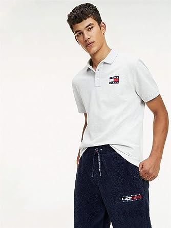 Tommy Jeans DM0DM07456 Badge Polo para Hombre, Gris, XS: Amazon.es ...