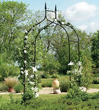 Lovely Extra Tall Gothic Arbor Garden Trellis Outdoor Metal Arch For Backyard  Patio Rose Garden Yard