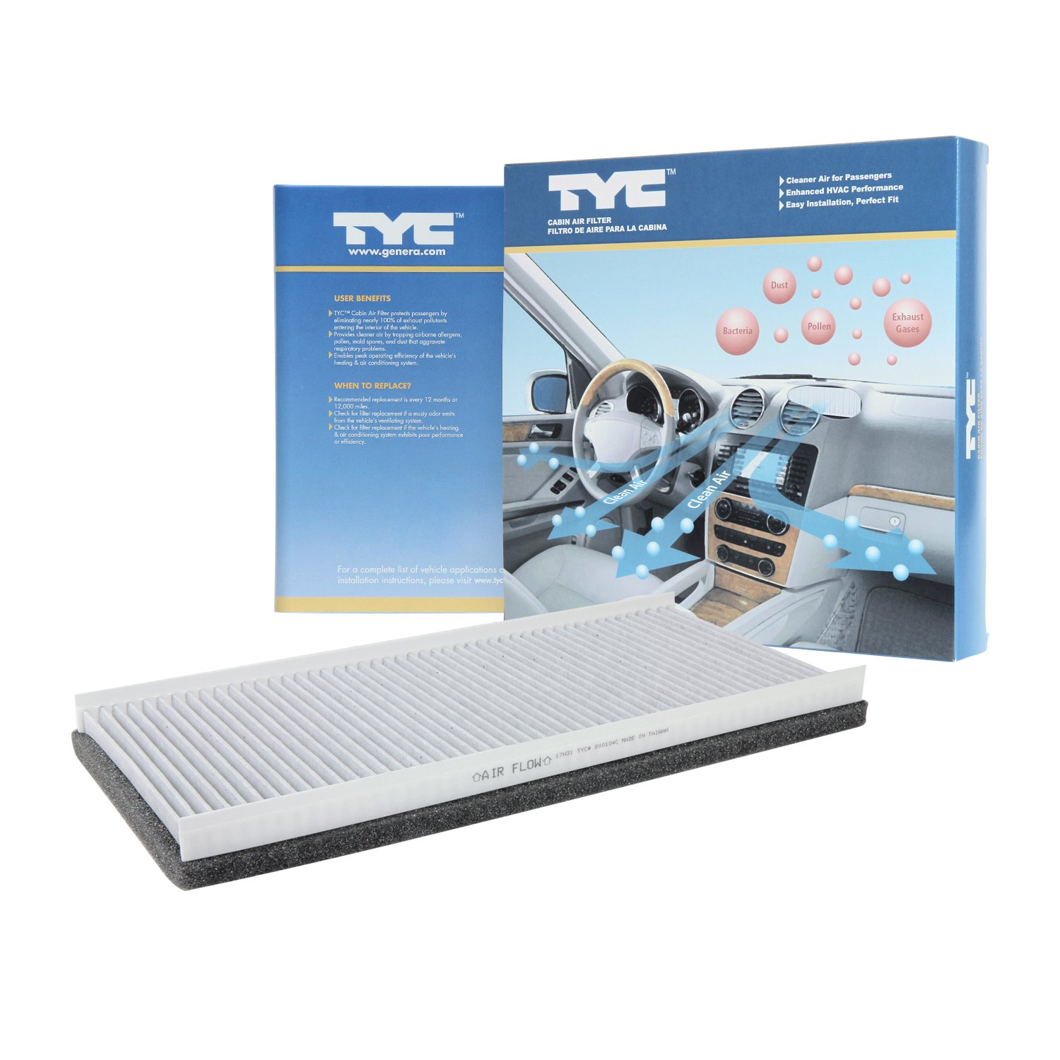 Tyc 800104c Sprinter Van Replacement Cabin Air Filter 2012 Fuel Automotive