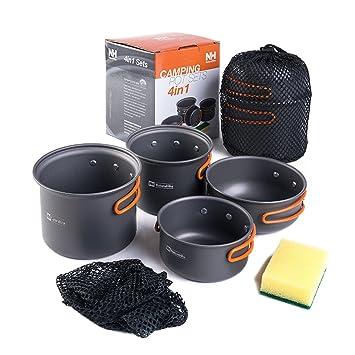 Aluminium alloy 4 in 1 Ollas y Sartenes Portable Utensilios de Cocina