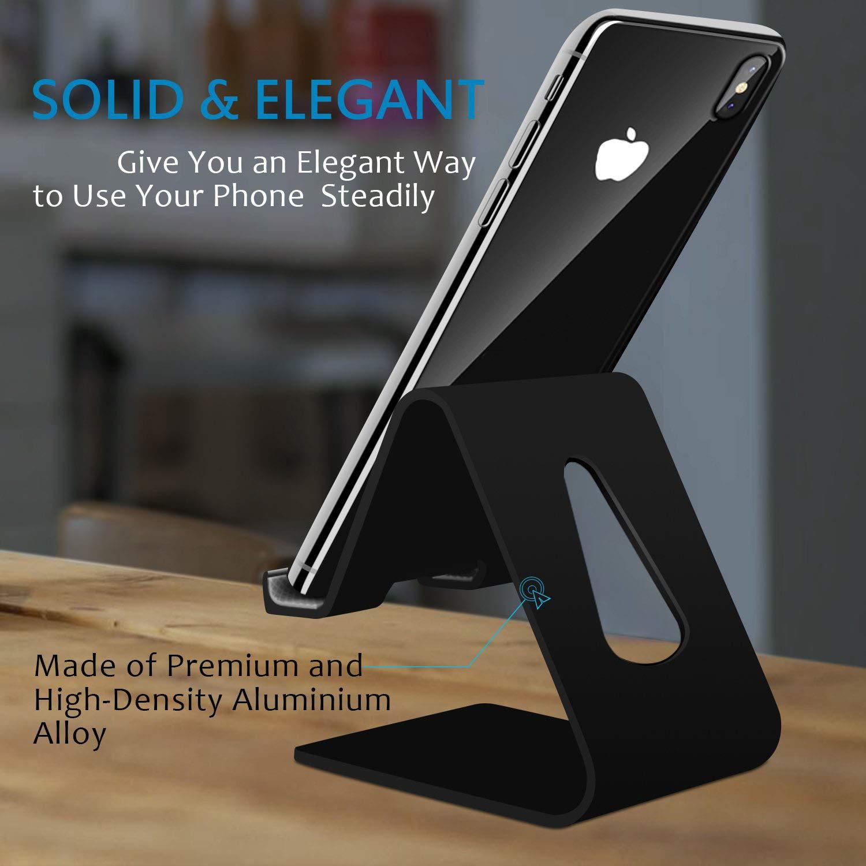 COOLOO Support T/él/éphone Lot de 2 Compatible Phone Support de Bureau Dock pour Tablette commutateur Smartphone Android Compatible Phone XR XS Max X 8 7 6S Plus 5S