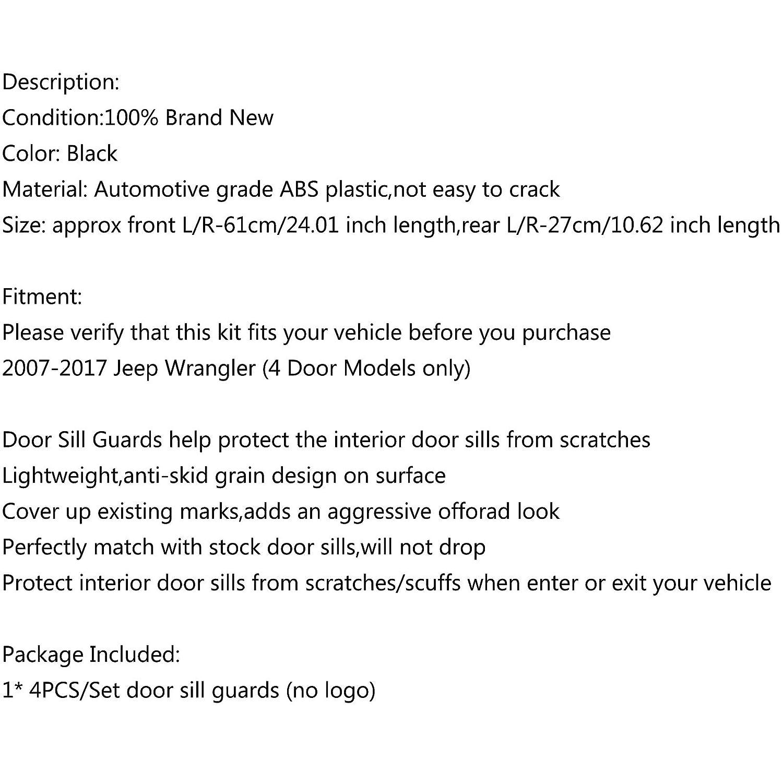 Artudatech Kit de d/écoration pour porte int/érieure en plastique ABS pour J-E-E-P Wrangler JK 2//4 portes 2007-2017