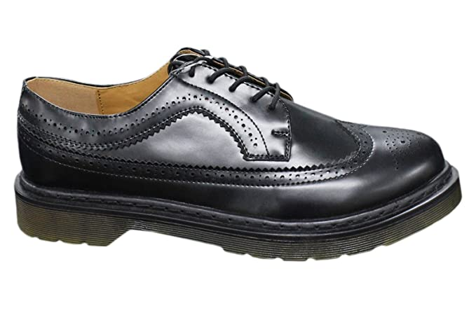 sports shoes 36f51 81f25 Scarpe francesine uomo casual eleganti nero lucido man's shoes ecopelle