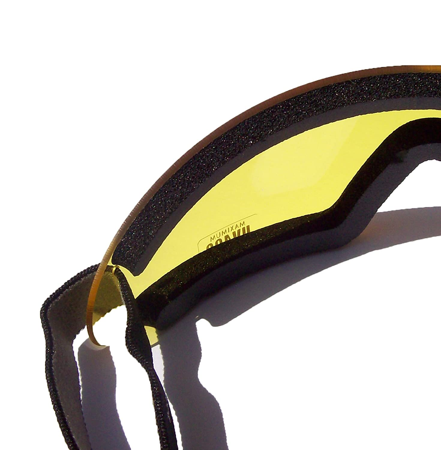 SORZ SkyDiving Freefall Parachute Anti-Fog ShatterProof Safety Goggles|Yellow Lens