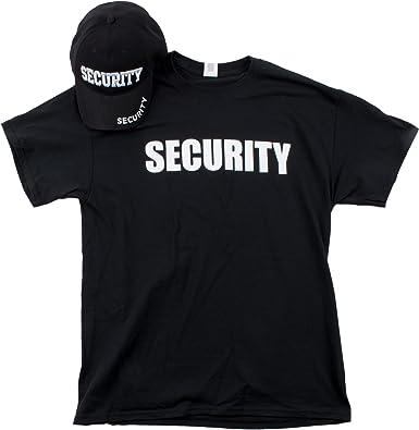88d360f0 Security Hat & T-Shirt Bundle | Matching Security Guard Officer Uniform  Kit-(