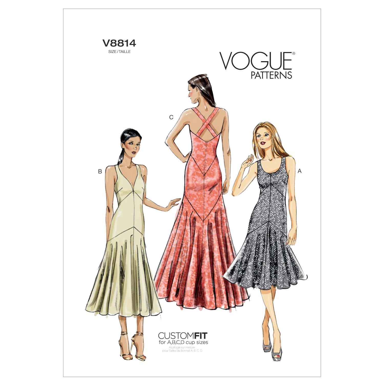 Vogue Patterns V8814 Misses Dress, Size A5 (6-8-10-12-14) McCall Pattern Company V8814A50