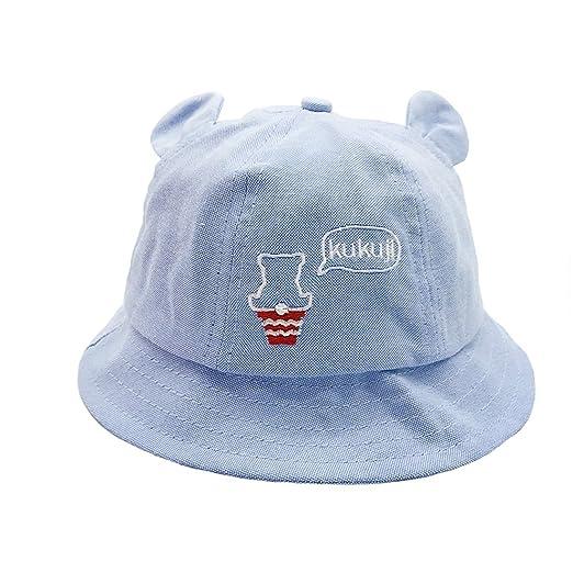 Amazon.com  ACVIP Girl s Bear Ears Ice-Cream Decorated Cotton Bucket ... ad38143116f
