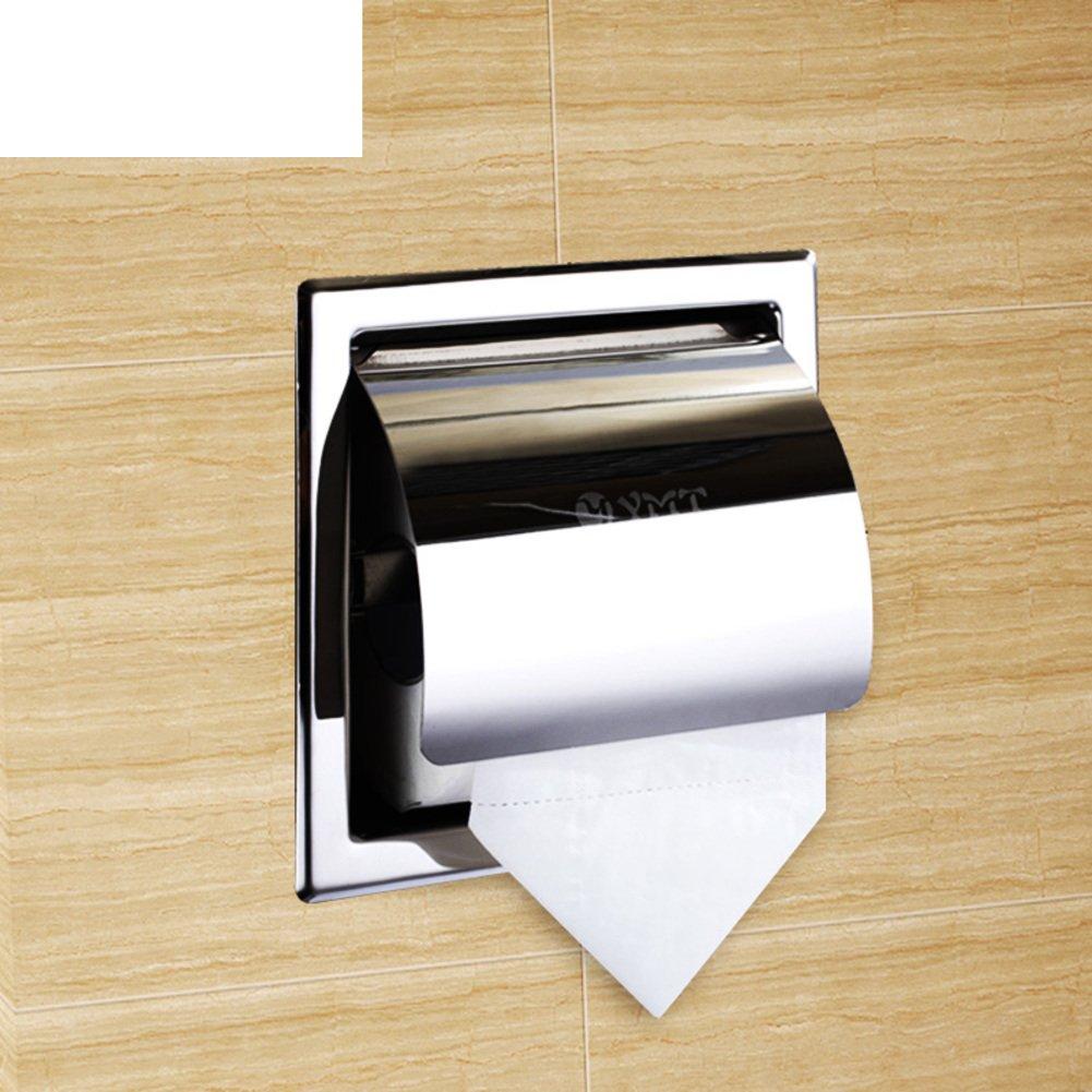 lovely Embedded toilet paper holder/Toilet paper holder/Stainless steel paper towel holder/Volume Tray/Hand tray