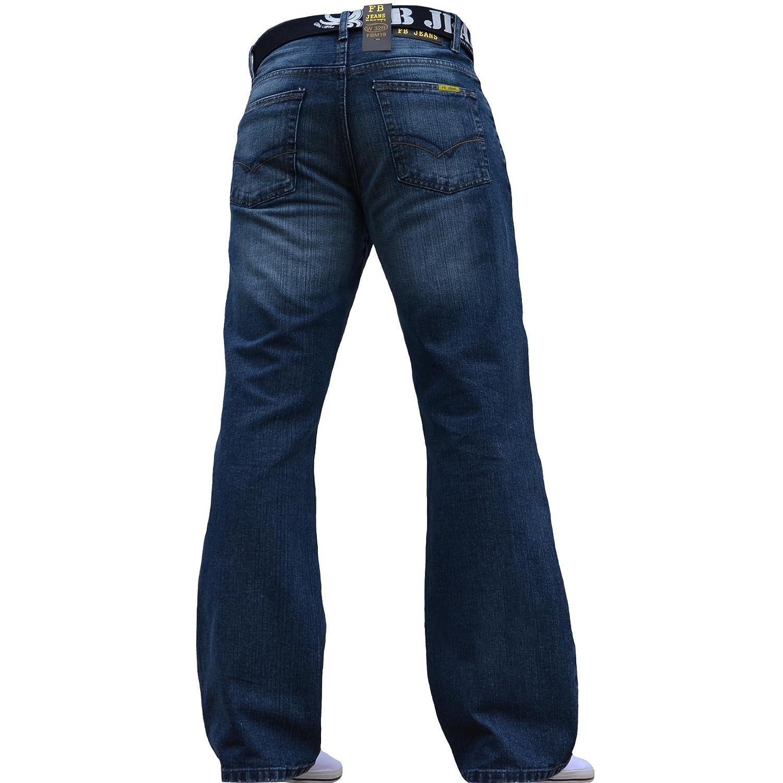 F.B.M Jeans - Jeans - Bootcut - Homme Bleu Bleu clair  Amazon.fr  Vêtements  et accessoires 72a1526fee61
