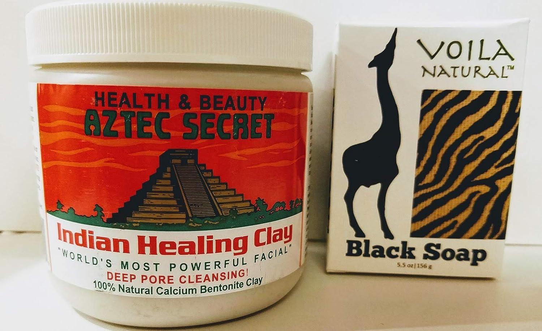 African Black Soap and Aztec Secret Indian Healing Clay Bundle