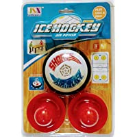 Bright Enterprise Ice Hockey Air Power (Battery Operated) with Air Cushion which can be Played on a Smooth Surface i.e Table (Indoor Game) for Kids