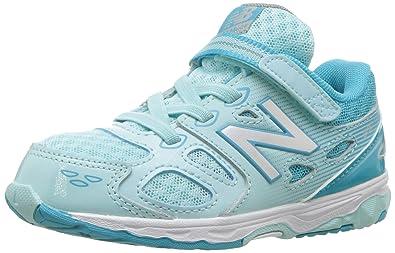 e41661337cf New Balance Girls  680 V3 Running Shoe Blue White 2 M US Infant