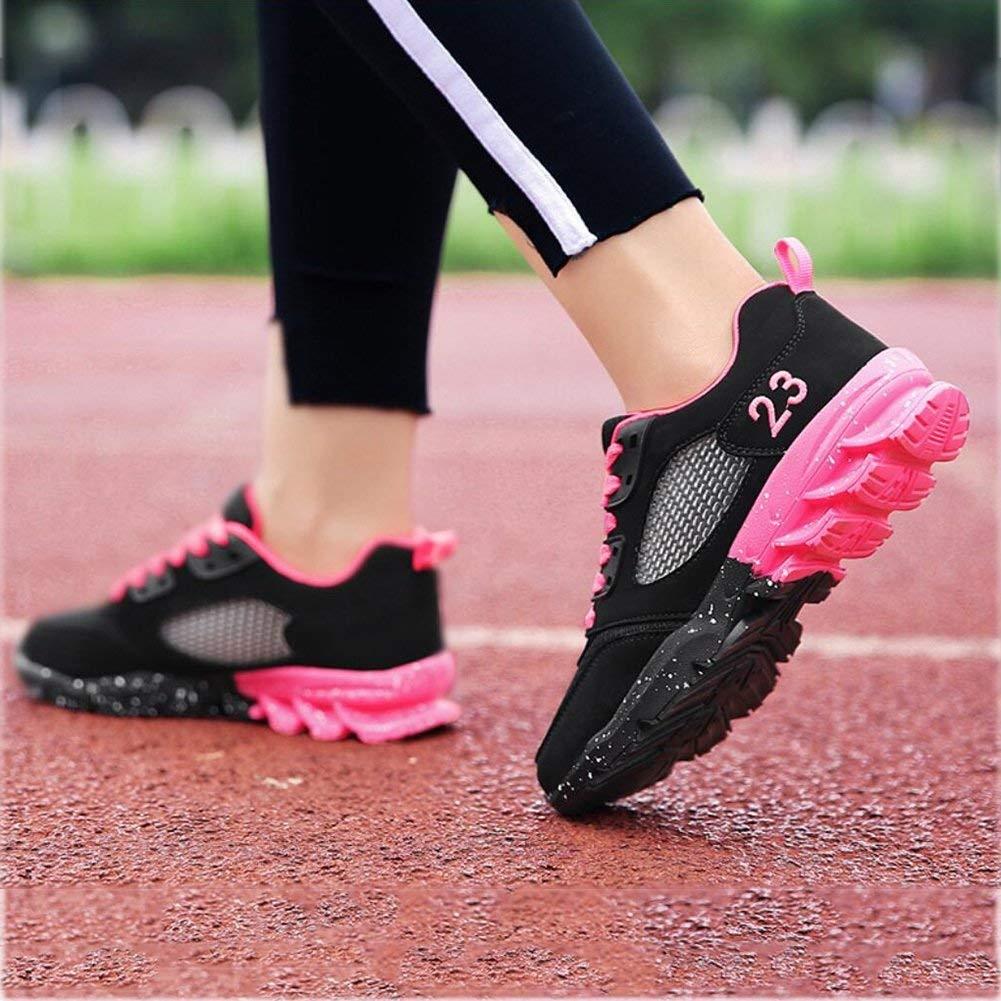 Oudan Damen Sport Laufschuhe, Laufschuhe, Sport Turnschuhe Jogging Trainer für Mädchen, Schüler Laufschuhe, Koreanische Sportschuhe Damenschuhe (Farbe : B, Größe : 38) (Farbe : B, Größe : EU 40) 03f2e8