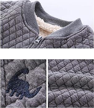 MAOMAHREWW Kids Little Boys Winter Thick Fleece Quilted Coat Zipper Bomber Jacket