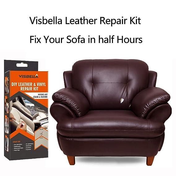 Amazon.com: Kit de reparación de cuero y vinilo Visbella DIY ...