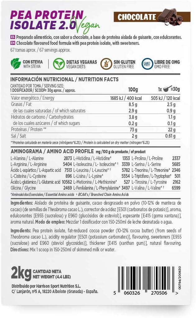 HSN Proteína de Guisante Aislada Vegan Protein | Pea Protein ...