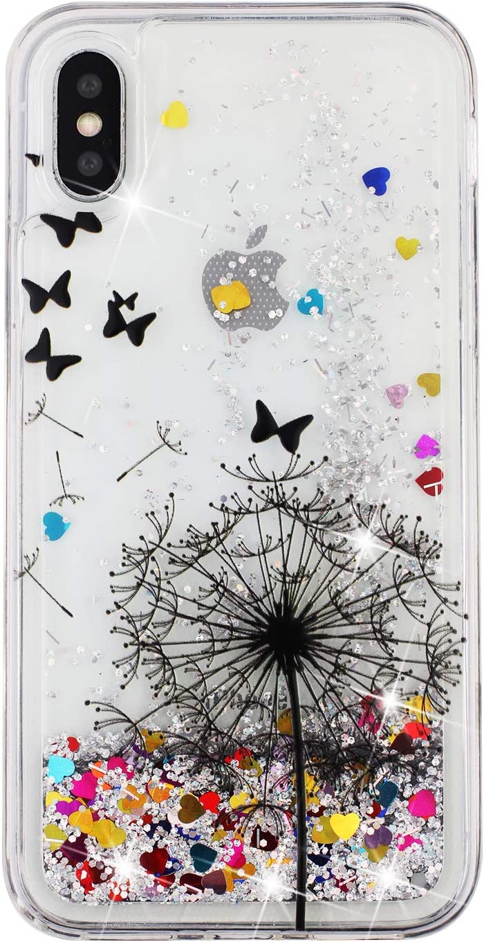 Qfun Für Iphone X Xs Handyhülle Mit Glitzer Elektronik