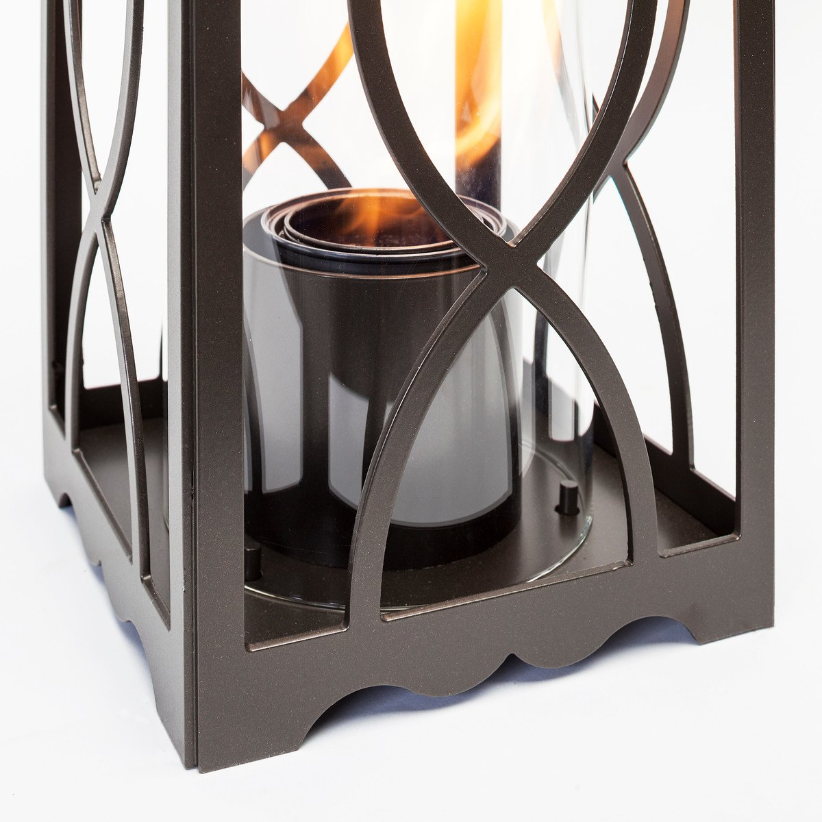 Terra Flame 700953164254 Augusta Collection Lantern, Medium-26.5in, Bronze by Terra Flame