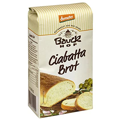bauckhof Ciabatta Pan Mix Demeter Vegan 18oz: Amazon.com ...
