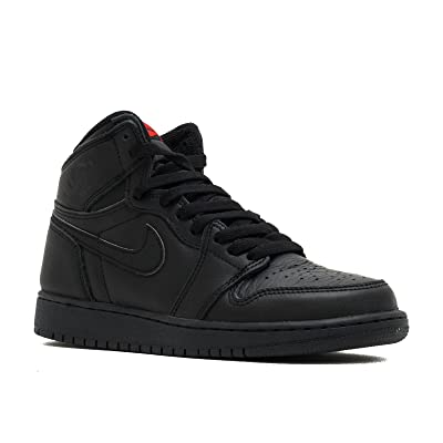 575441-022 Grade School AIR 1 Retro HIGH OG BG Jordan Black University RED: NIKE: Sports & Outdoors