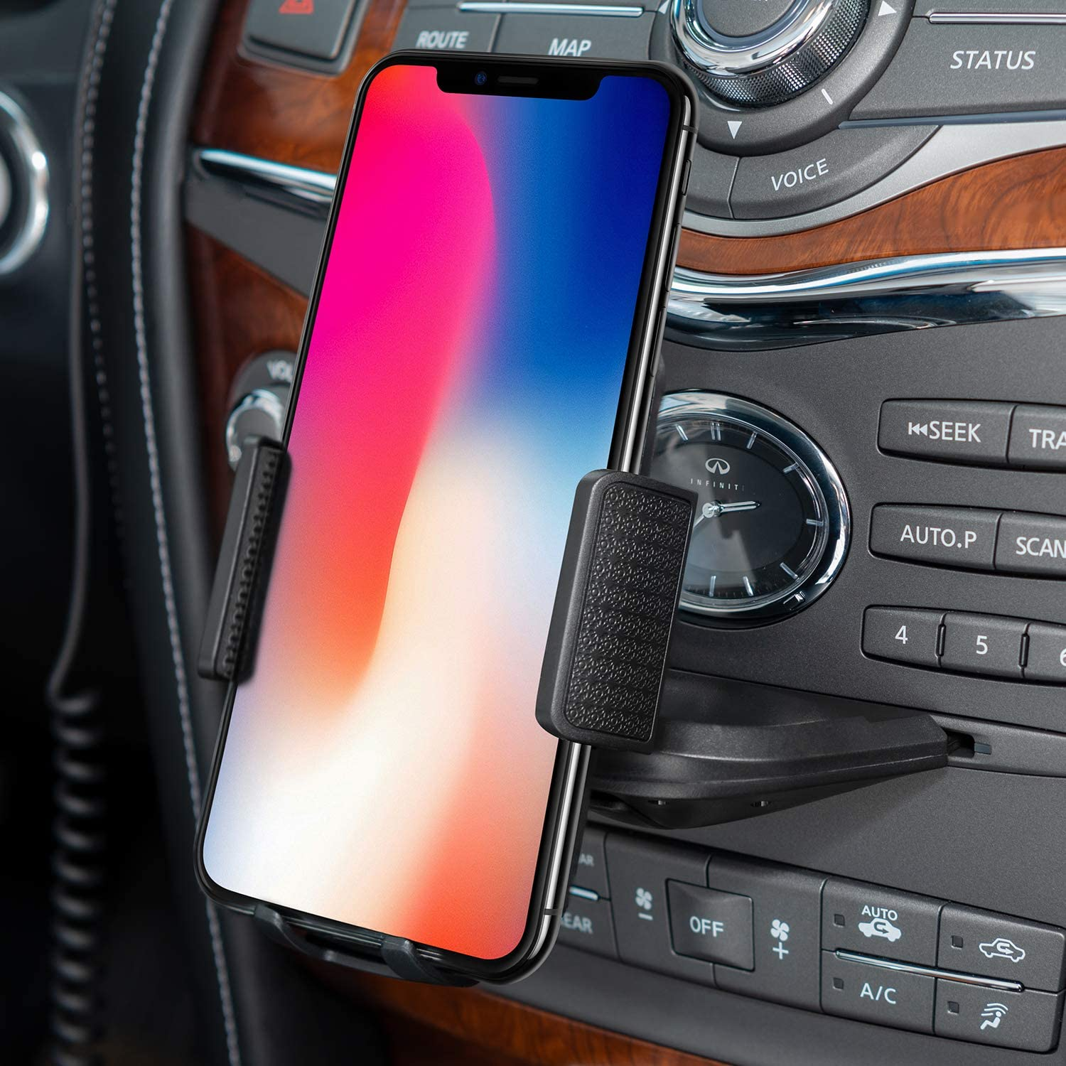 Amoner Car Phone Mount Universal CD Phone Mount Phone Holder for Car Compatible with iPhone 11//11Pro//Xs MAX//XR//XS//X//8//8Plus CD Slot Phone Holder Google Galaxy S10//S10+//S10e//S9//S9+//N9//S12