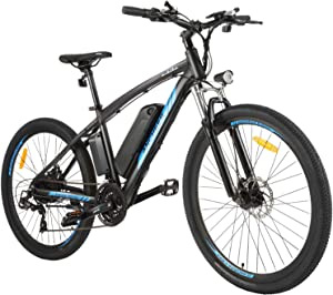 ANCHEER 350/500W Electric Bike 27.5'' Adults Electric Bicycle/Electric Mountain Bike, 20MPH Ebike with Removable 10/10.4Ah Battery, Professional 21/24 Speed Gears