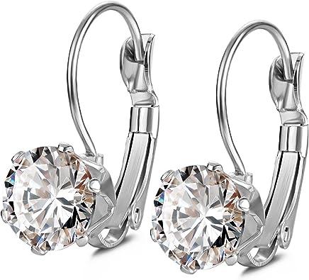 Dangle Earring Ss Fashion Rhodium Ear