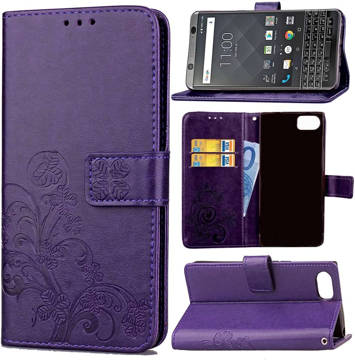 Guran® Funda de Cuero PU para Blackberry Keyone / Mercury ...