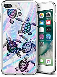 Turtles iPhone 7 Plus 8 Plus Case Customized Design Anti-Scratch Flexible Shock Absorption Soft TPU Protective Phone Case for iPhone 7 Plus 8 Plus-Clear