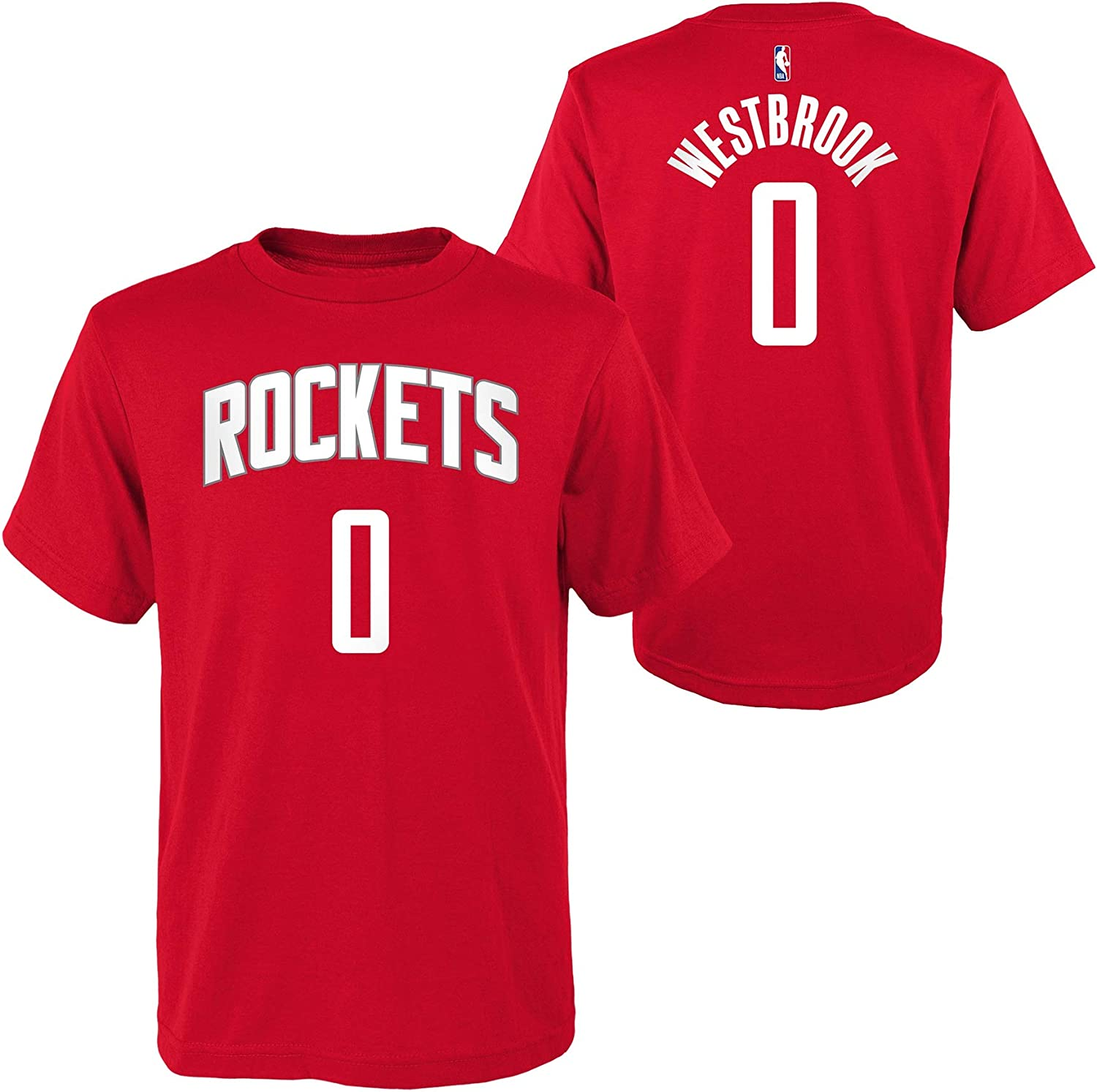 Outerstuff Russell Westbrook Houston Rockets #0 ユース 選手名と背番号 Tシャツ レッド  Medium 10/12