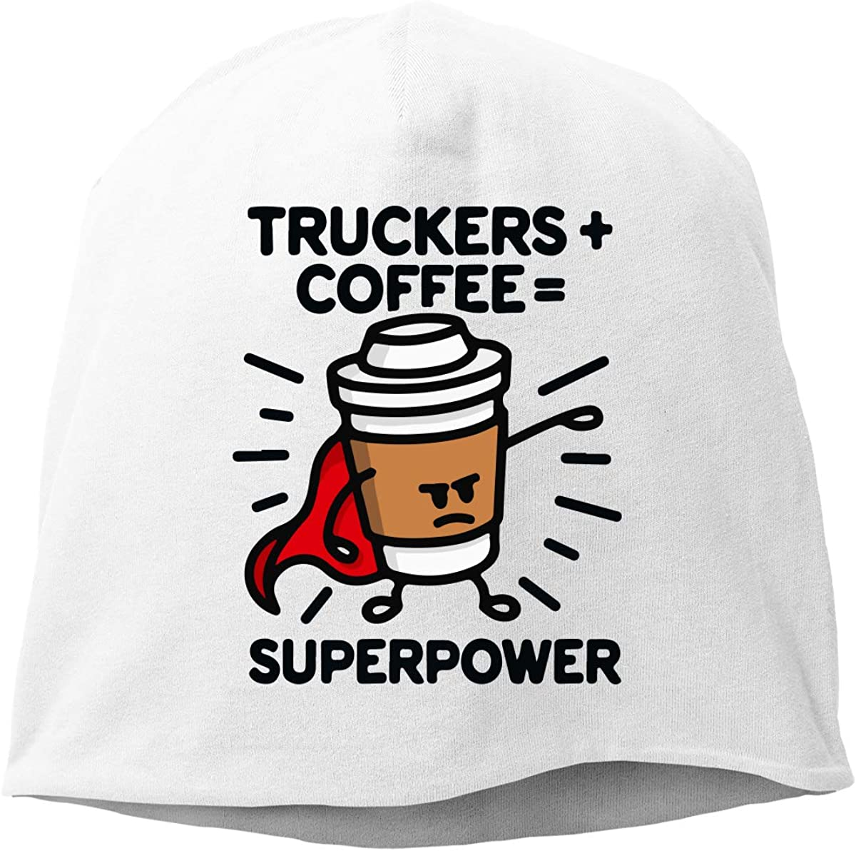 TLPM9LKMBM Truckers Coffee Beanie Skull Cap for Women and Men Winter Warm Knit Hat
