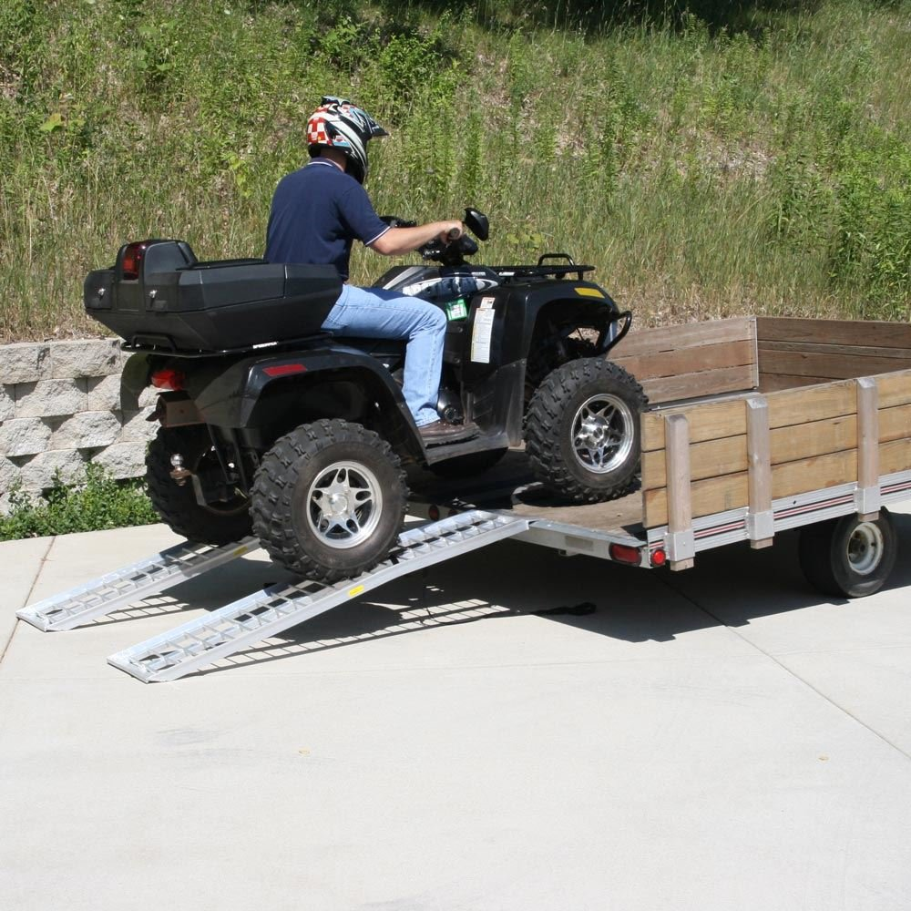 Rage Powersports 95'' Aluminum Non-Folding Arched Lawn & Garden Equipment Loading Ramps by Rage Powersports (Image #2)