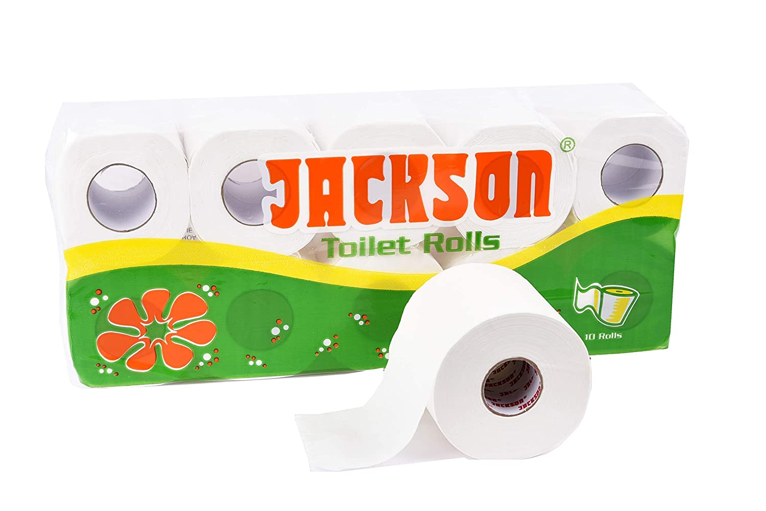 Jackson Toilet Tissue Paper Roll - 2 Ply - Pack of 10 Rolls