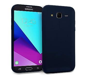 MyGadget Funda Slim para Samsung Galaxy J7 [2016] en Silicona TPU - Anti Rasguños - Carcasa Protectora Ultra Delgada [ 1,2 mm ] cómoda - Azul